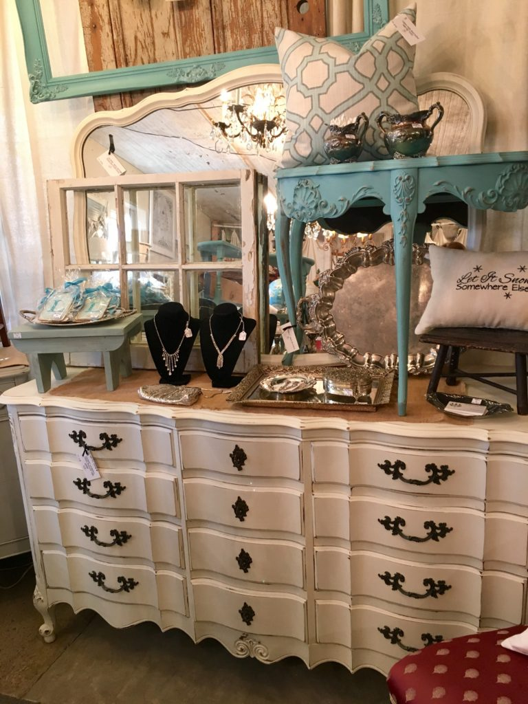 french antique chalk painted dresser