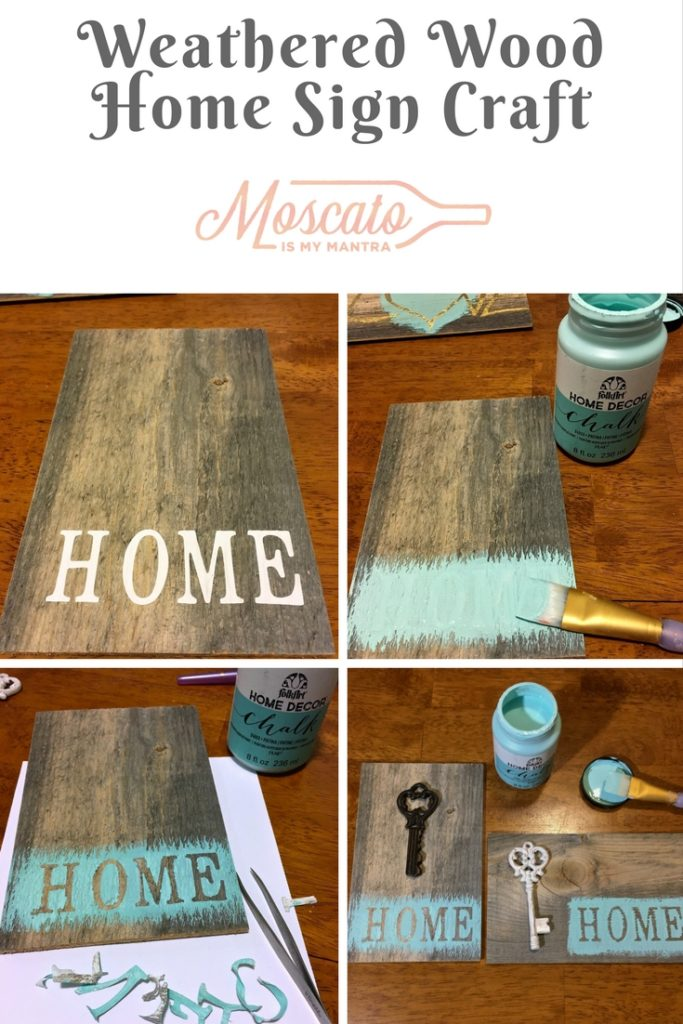 Weathered Wood Home Sign Craft