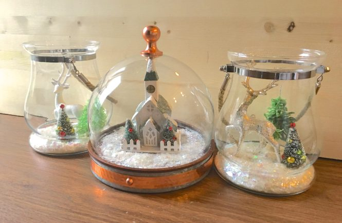DIY Holiday Terrarium and Snow Globe Craft Project
