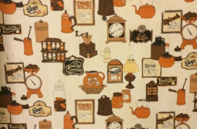 70s retro orange wallpaper