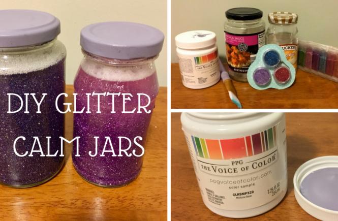 DIY GLITTER CALM jAR