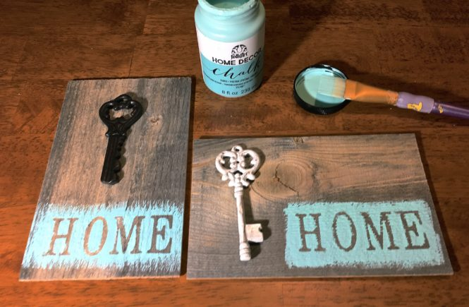 Weathered Wood Home Sign DIY